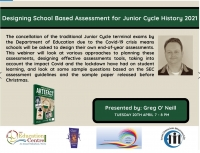 SP154-21 Designing School Based Assessment for Junior Cycle History 2021