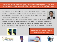 SP169-21  Incorporating the Unifying Strand and Preparing for the Classroom-Based Assessments in Junior Cycle Mathematics