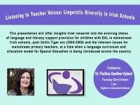 Aut 78 - Literacy Association of Ireland: Listening to Teacher Voices: Linguistic Diversity in Irish Schools.