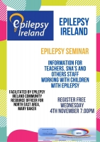 Aut 96 - Epilepsy Awareness Seminar Information for Teachers, SNA's and others staff working with children with epilepsy