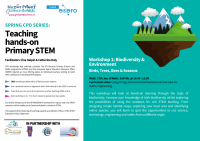 SP73 -21 Spring CPD Series Workshop 1: Teaching hands-on Primary STEM